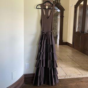 Imperial Brown Maxi Dress Size Medium